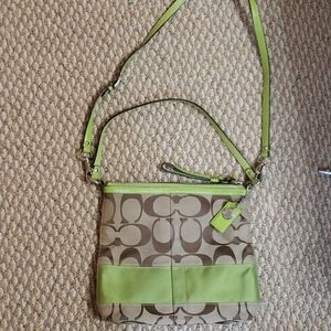 Green Coach Crossbody Purse